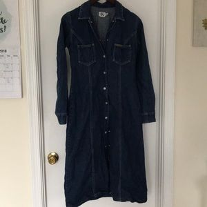 Long Denim Over Coat / Dress